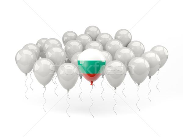 воздуха шаров флаг Болгария изолированный белый Сток-фото © MikhailMishchenko