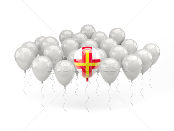 Air balloons with flag of guernsey Stock photo © MikhailMishchenko