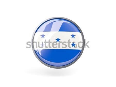 Adesivo bandeira Honduras isolado branco viajar Foto stock © MikhailMishchenko
