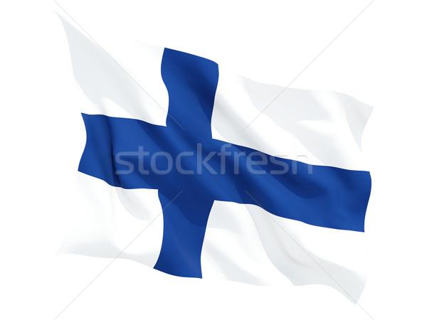 Bandiera Finlandia isolato bianco Foto d'archivio © MikhailMishchenko