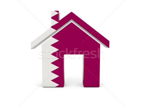 домой флаг Катар изолированный белый поиск Сток-фото © MikhailMishchenko