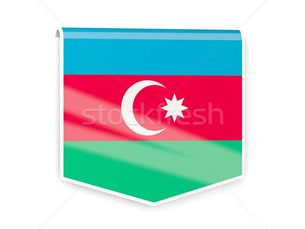 Zászló címke Azerbajdzsán izolált fehér felirat Stock fotó © MikhailMishchenko