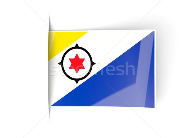 Square label with flag of bonaire Stock photo © MikhailMishchenko