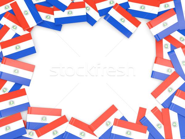 Ramki banderą Paragwaj odizolowany biały Zdjęcia stock © MikhailMishchenko