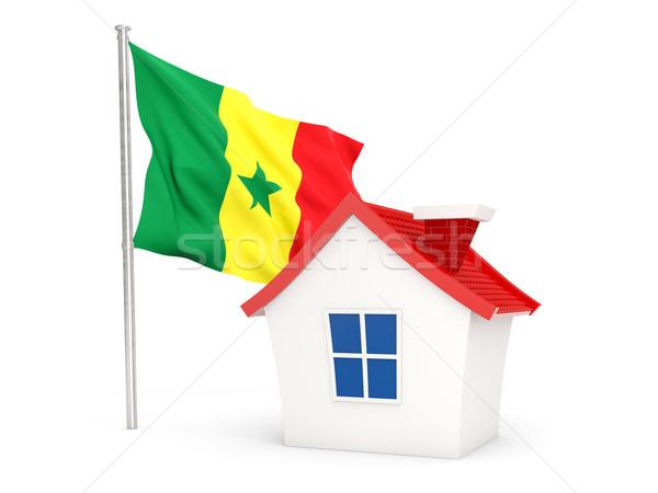 Huis vlag Senegal geïsoleerd witte home Stockfoto © MikhailMishchenko