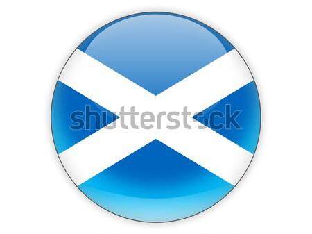 Round icon with flag of scotland Stock photo © MikhailMishchenko