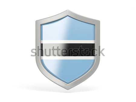 Shield icon with flag of botswana Stock photo © MikhailMishchenko