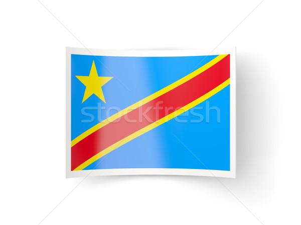 Ikon bayrak demokratik cumhuriyet Kongo yalıtılmış Stok fotoğraf © MikhailMishchenko