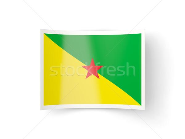 Bent icon with flag of french guiana Stock photo © MikhailMishchenko