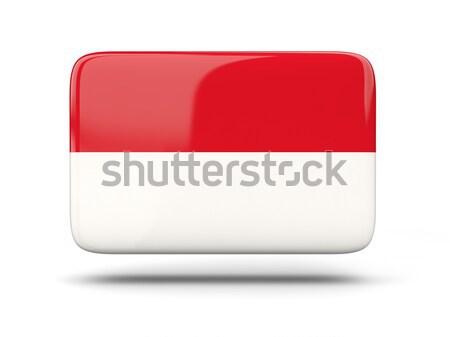 квадратный икона флаг Монако тень знак Сток-фото © MikhailMishchenko