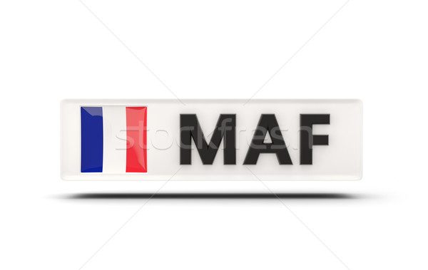 Square icon with flag of saint martin Stock photo © MikhailMishchenko