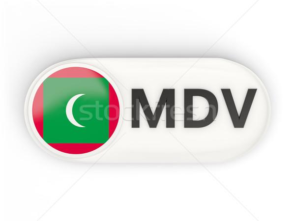 ícone bandeira Maldivas iso código país Foto stock © MikhailMishchenko