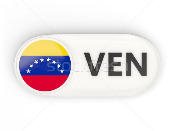 Ikon zászló Venezuela iso kód vidék Stock fotó © MikhailMishchenko