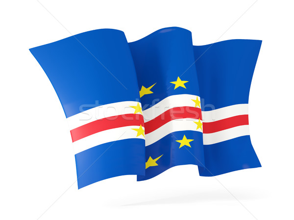 Waving flag of cape verde. 3D illustration Stock photo © MikhailMishchenko