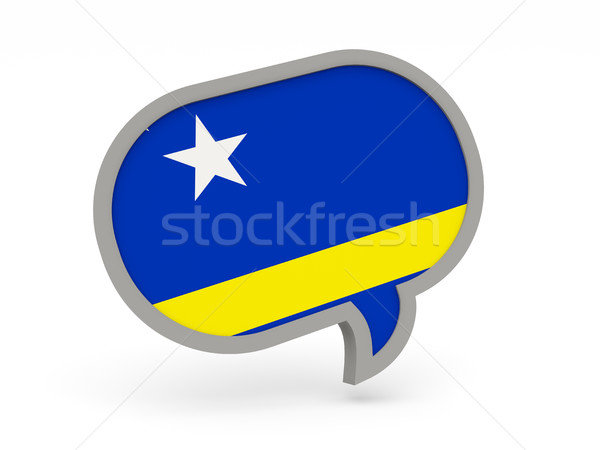 Chat icon with flag of curacao Stock photo © MikhailMishchenko