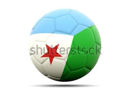 футбола флаг Джибути 3d иллюстрации Футбол спорт Сток-фото © MikhailMishchenko