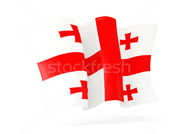 Bandera Georgia 3d aislado blanco Foto stock © MikhailMishchenko