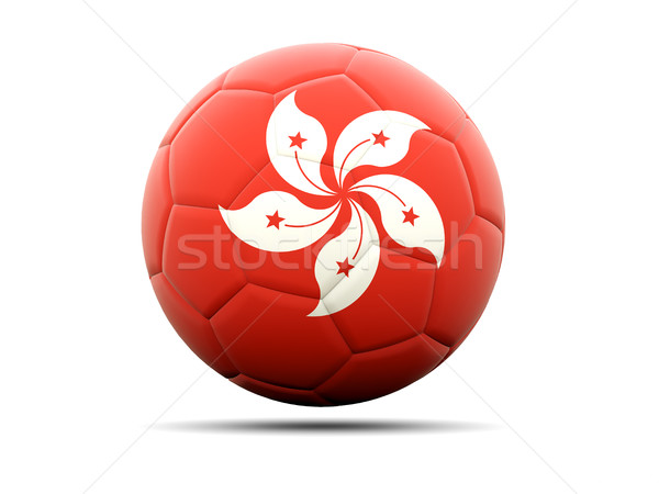 Football with flag of hong kong Stock photo © MikhailMishchenko
