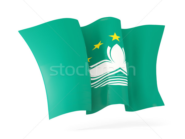 Waving flag of macao. 3D illustration Stock photo © MikhailMishchenko