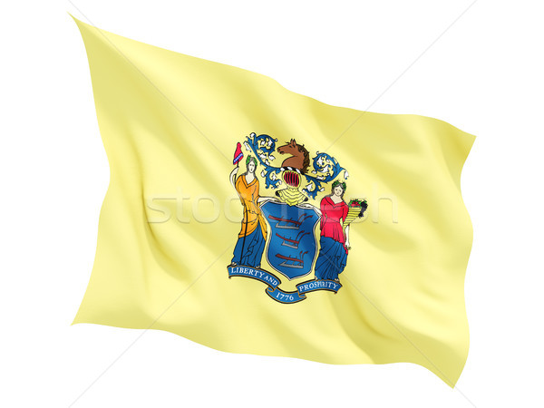 Flag of new jersey, US state fluttering flag Stock photo © MikhailMishchenko