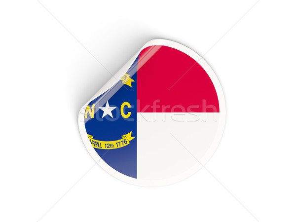 Flag of north carolina, US state round sticker Stock photo © MikhailMishchenko