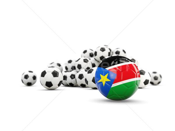 Piłka nożna banderą południe odizolowany biały 3d ilustracji Zdjęcia stock © MikhailMishchenko
