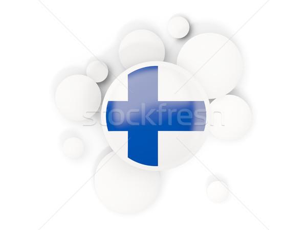 Bayrak circles model yalıtılmış beyaz 3d illustration Stok fotoğraf © MikhailMishchenko