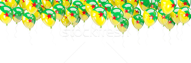 Balloons frame with flag of french guiana Stock photo © MikhailMishchenko