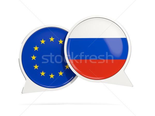 Chat burbujas ue Rusia aislado blanco Foto stock © MikhailMishchenko