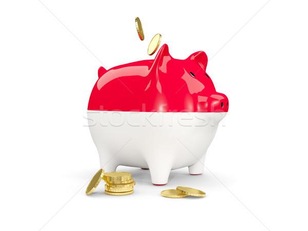 жира Piggy Bank Индонезия деньги изолированный белый Сток-фото © MikhailMishchenko