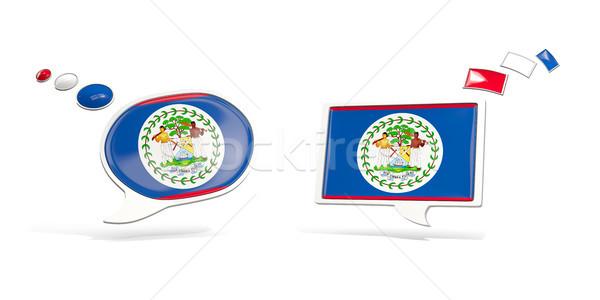 Kettő chat ikonok zászló Belize tér Stock fotó © MikhailMishchenko