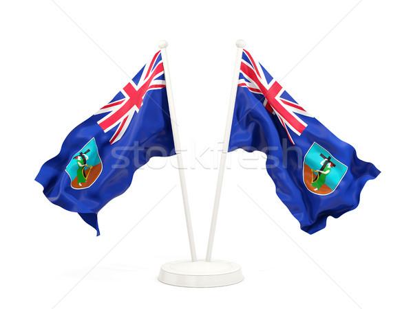 Two waving flags of montserrat Stock photo © MikhailMishchenko