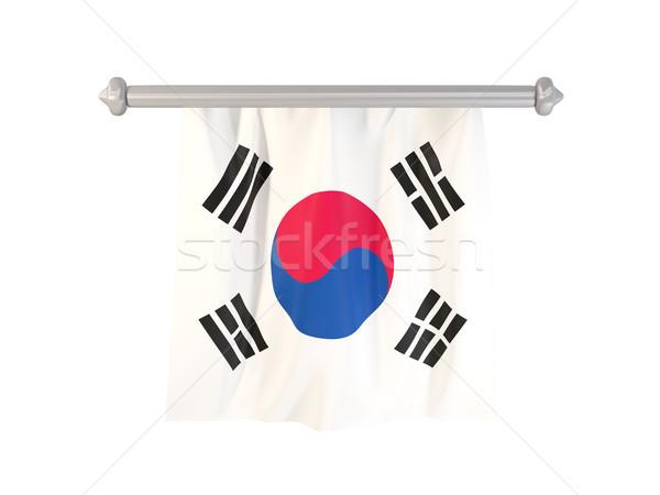 Pennant with flag of south korea Stock photo © MikhailMishchenko