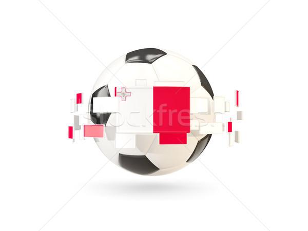 Balón de fútbol línea banderas bandera Malta Foto stock © MikhailMishchenko