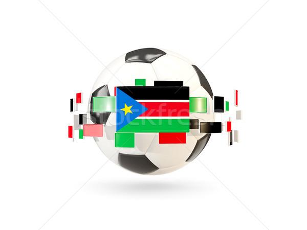 Piłka line flagi banderą południe Sudan Zdjęcia stock © MikhailMishchenko