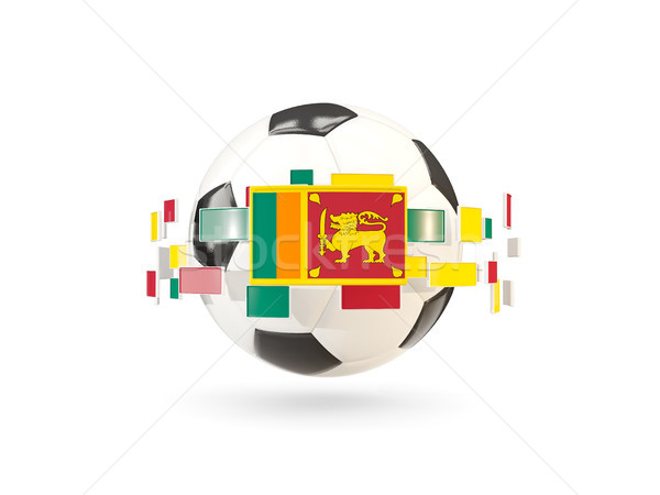 Futballabda vonal zászlók zászló Sri Lanka lebeg Stock fotó © MikhailMishchenko