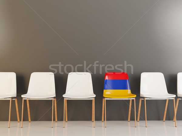 Председатель флаг Армения белый стульев Сток-фото © MikhailMishchenko
