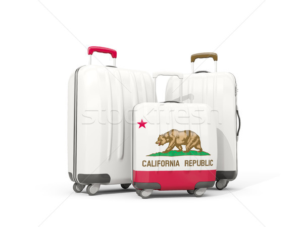 Luggage with flag of california. Three bags with united states l Stock photo © MikhailMishchenko