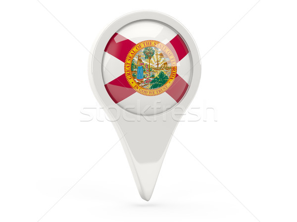Bandera pin Florida Estados Unidos local banderas Foto stock © MikhailMishchenko