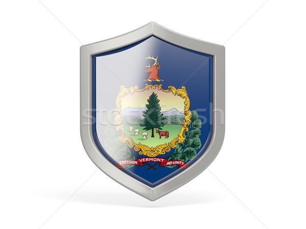 Pajzs ikon zászló Vermont Egyesült Államok helyi Stock fotó © MikhailMishchenko