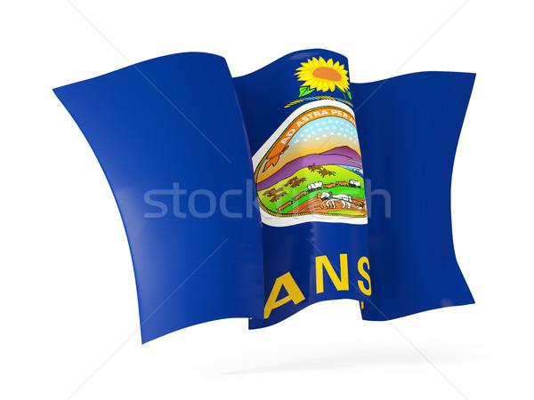 Kansas vlag icon Verenigde Staten Stockfoto © MikhailMishchenko