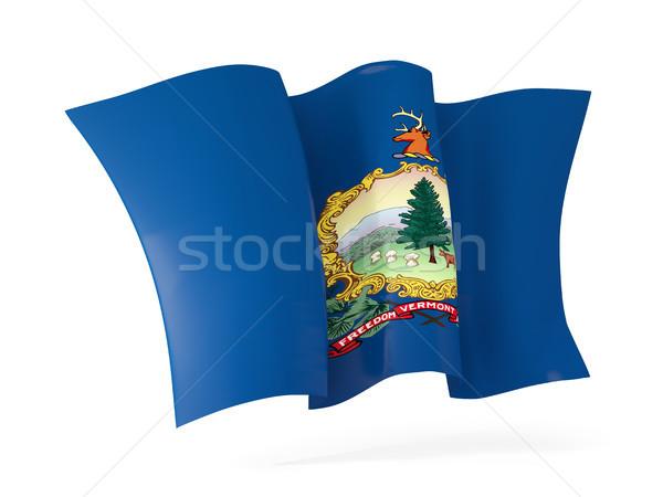 Vermont zászló integet ikon közelkép Egyesült Államok Stock fotó © MikhailMishchenko