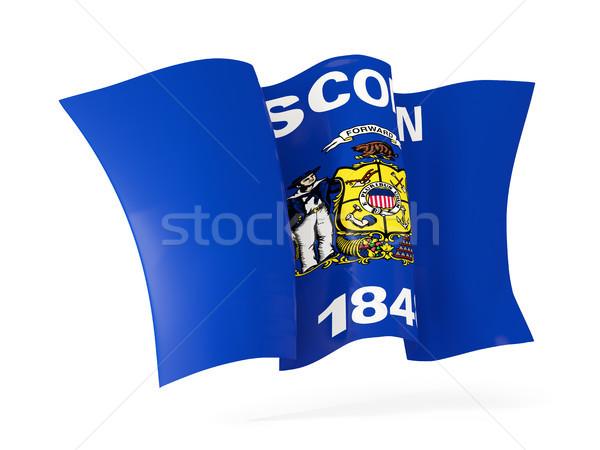 Висконсин флаг икона Соединенные Штаты Сток-фото © MikhailMishchenko