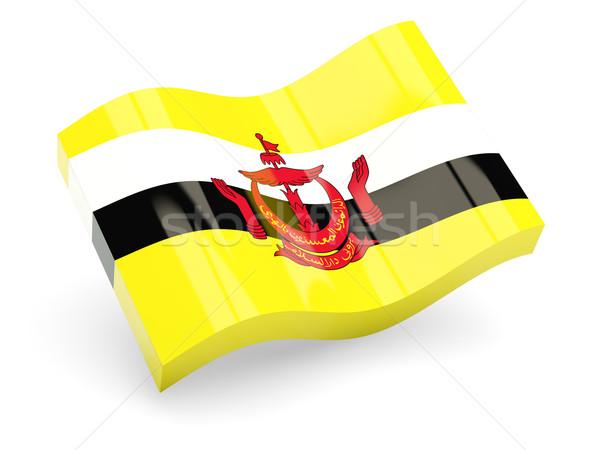 3D vlag Brunei geïsoleerd witte reizen Stockfoto © MikhailMishchenko