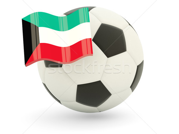 Futebol bandeira Kuweit isolado branco esportes Foto stock © MikhailMishchenko