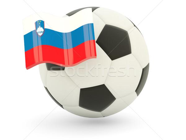 Calcio bandiera Slovenia isolato bianco sport Foto d'archivio © MikhailMishchenko