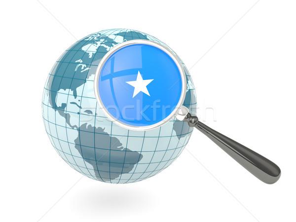 Stok fotoğraf: Bayrak · Somali · mavi · dünya · yalıtılmış