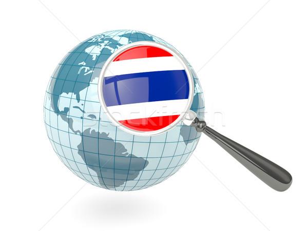 Stok fotoğraf: Bayrak · Tayland · mavi · dünya · yalıtılmış