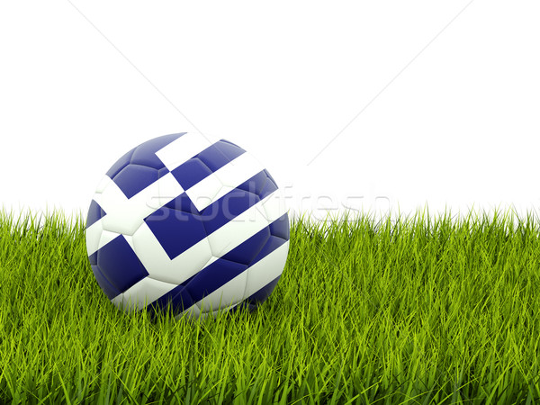 Football with flag of greece Stock photo © MikhailMishchenko