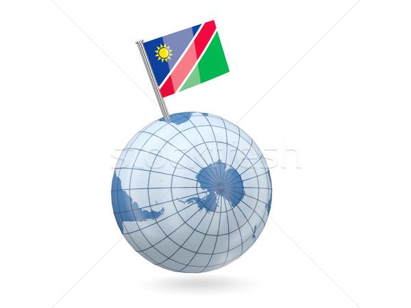 мира флаг Намибия синий изолированный белый Сток-фото © MikhailMishchenko